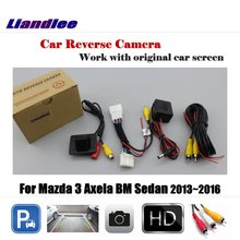 все цены на Liandlee Car Reverse Rearview Camera  For Mazda 3 Mazda3 Axela BM Sedan 2013~2016 Original Screen / HD CCD Backup Parking Camera онлайн