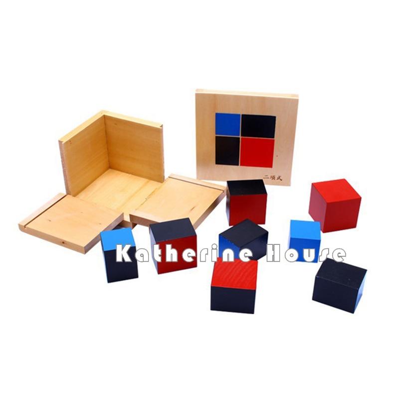 Bebé Juguete Montessori Algebraico Binomial Cubo Educación Infantil - Educación y entrenamiento - foto 5