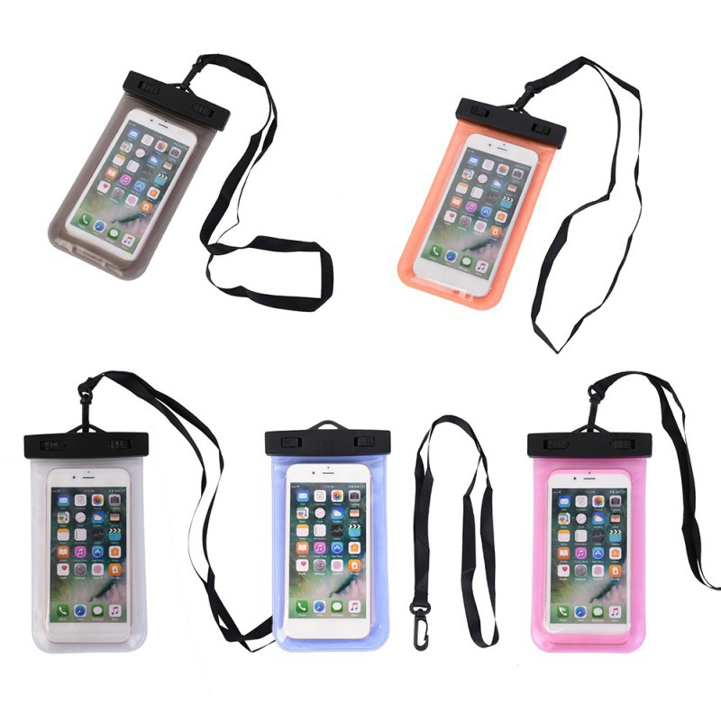 Universal Float Airbag Waterproof Portable Underwater Cell Phone Pouch Dry Bag Case Touch Screen Swimming Bags Dry Case