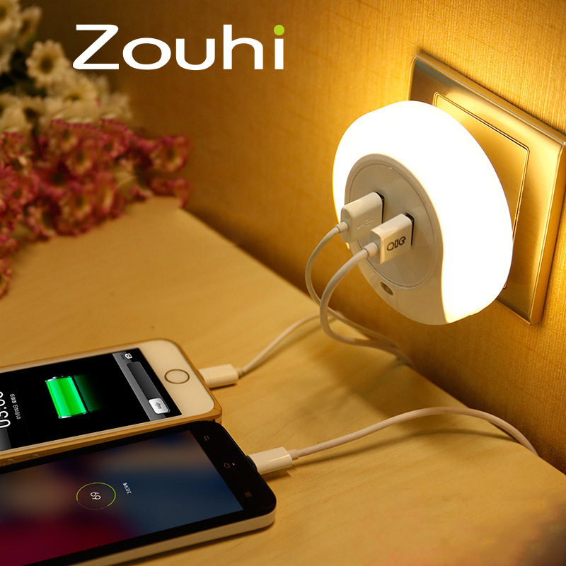 New Design Fashion Usb Wall Charger Adapter With Led Light Perception For Mobile Phone and Tablet