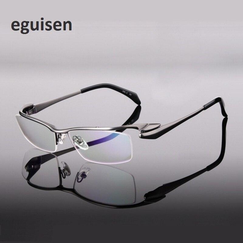 Montures de lunettes en titane pur hommes lunettes de lecture demi-monture myope prescription lunettes pour homme oculos largeur-140