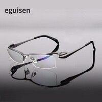 pure titanium eyeglass frames men reading glass half frame myopic prescription spectacle frame male eyewear oculos width 140