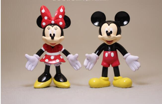 Kids Toys Action Figure: 2pcs 7cm New Arrival Couple's Mickey Minnie Cute Anime PVC