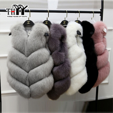 THYY 2017 New Slim Faux Fox Fur Outwear Sleeveless Sweet Sexy Party Feminina Solid WaistCoat High Quality Top sell Luxurious