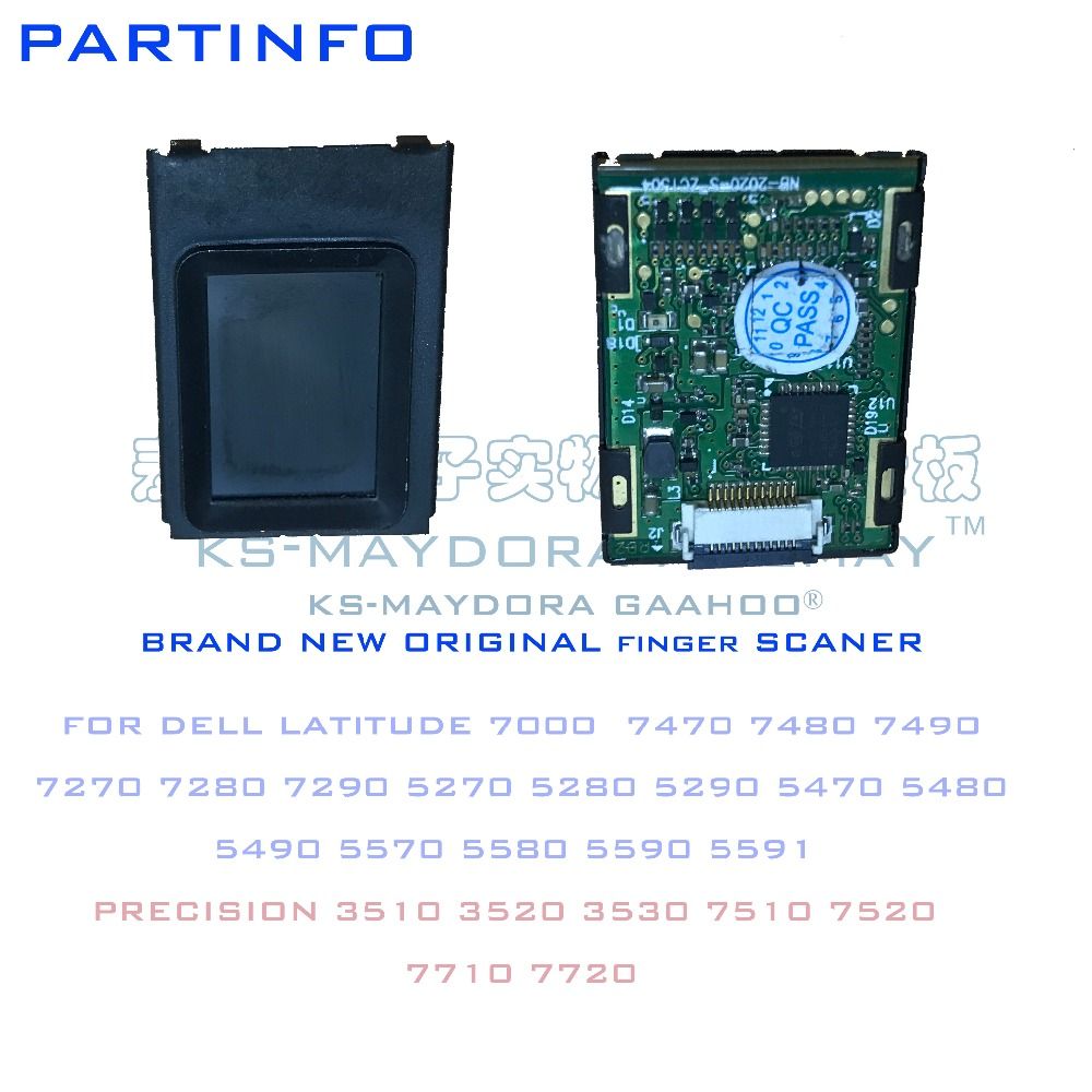 Laptop fingerprint scanner for <font><b>DELL</b></font> LATITUDE 5270 5280 5290 5470 5480 5490 5570 5580 5590 7470 7480 <font><b>7490</b></font> 7280 7270 7290 image