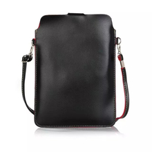 Fashion Premium PU Leather Slim Sleeve Bag for DOOGEE Shoot 1/ X9 Mini/ T5S/ Y6 Max 3D/ X9 Pro/ Y6 Piano Black Shoulder Bag
