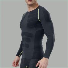 Мужская спортивная футболка с длинным рукавом для фитнеса и