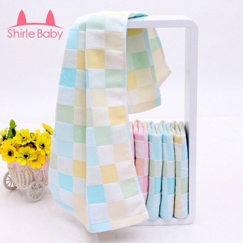 asciugamano salviette per neonati in cotone a scacchi bambino faccia telo da bagno per bambini viaggi