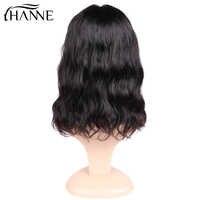 Natürliche Welle Spitze Front Menschliches Haar Perücken Kostenloser Teil Brasilianische Remy Haar Kurze Bob Perücken Für Frauen Pre-Gezupft perücke HANNE Haar