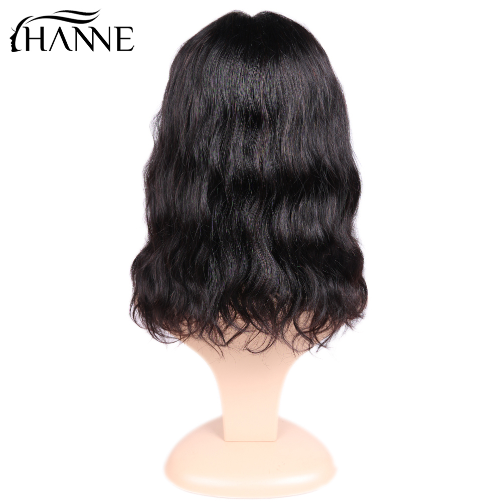 Natural Wave Lace Front Human Hair Wigs Free Part Brazilian Remy Hair Short Bob Wigs For Women Pre-Plucked Wig HANNE Hair