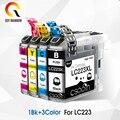 4 шт. совместимых чернильных картриджей для Brother LC223 lc 223 стандартная фотография