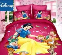 Disney neve branca jogo de cama para crianças decoração do quarto twin tamanho colcha cobre colcha única folha plana 2/3pcs casa têxtil