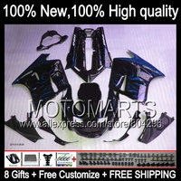 Bodys For KAWASAKI NINJA ZX11 Blue flames 36#125 ZZR 1100 90 91 92 Blue black ZX11R ZZR1100 ZX 11 1990 1991 1992 Fairing