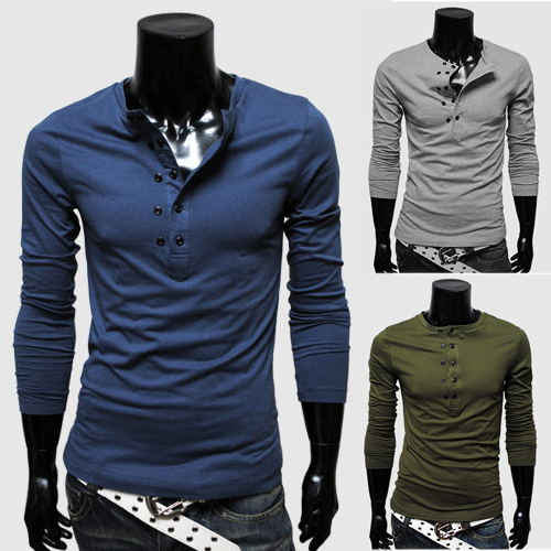 Fast delivery 2014 sportsman fashion design long sleeve Polo t ...