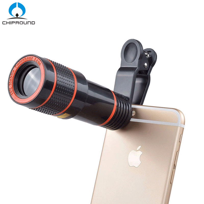Universal 8X/12X Optical Zoom Telescope Camera Lens Clip