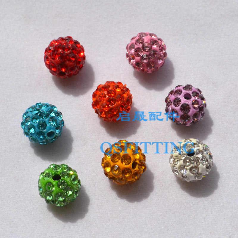 10 pièces bricolage bijoux de mode accessoire autriche strass perles rondes 10MM boules de cristal Bracelet faisant des résultats mélanger la couleur