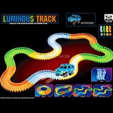 100 1000pcs diy magic track set with bend flex curve glows in the dark luminous