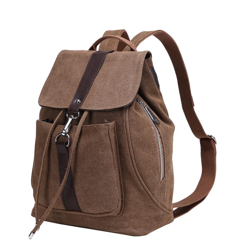 2017 New Vintage Brand Canvas Backpack Women Men Handmade Travel Bags Schoolbag Soild Girls Shoulder Laptop Daypacks Mochila men s canvas backpack 2016 vintage men patchwork double shoulder bag backpack schoolbag travel bags mochila for us
