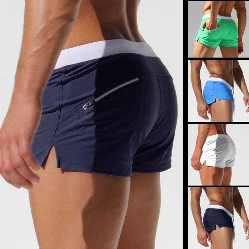 Calções marca Homens Bolso Com Zíper Casual Mens Shorts de Secagem Rápida Boardshorts Troncos dos homens Corredores Verão Mens Curto homme masculino