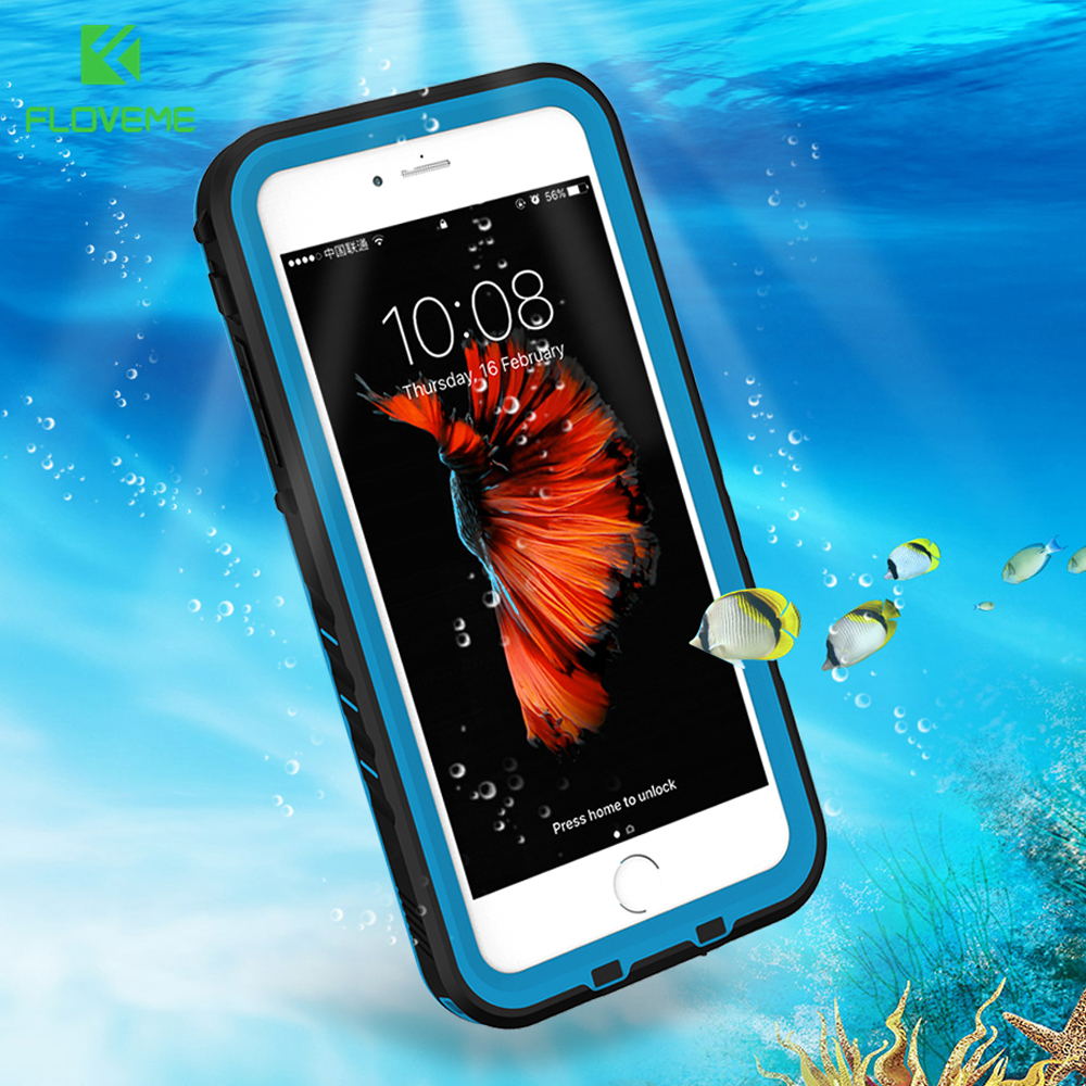 e38c95a2ce9 FLOVEME Waterproof Phone Case For iPhone 8 8 Plus 8Plus Cases Fashion Water  Proof Phone Cover For iPhone 7 7 Plus Fundas Coque