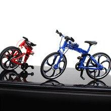 New Finger Alloy Bicycle Model Mini Foldable MTB BMX Toy Bike Boys Creative Game Gift