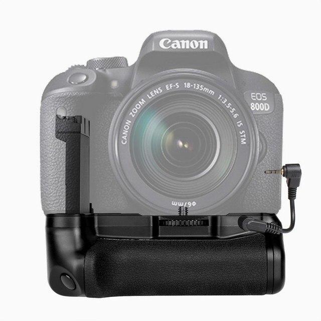 캐논 eos 800d/반란군 t7i/77d/키스 x9i dslr 카메라에 대한 새로운 profeesional 멀티 파워 배터리 그립 팩 홀더 LP E17 함께 작동