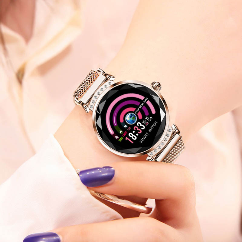 Smart Horloge H2 Mode Vrouwen Mooie Armband Hartslagmeter Slaap Monitoring Smartwatch verbinding IOS Android Nieuwste Collectie - 2