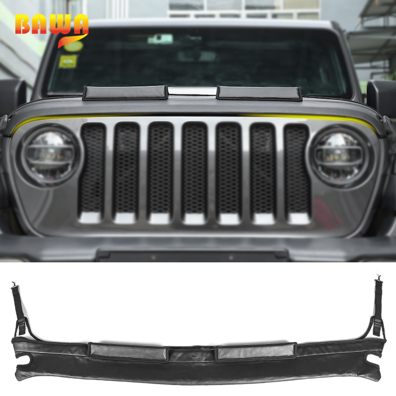 BAWA Car Covers for Jeep Wrangler JL 2018 Engine Cover Front Hood Protector Accessories for Jeep