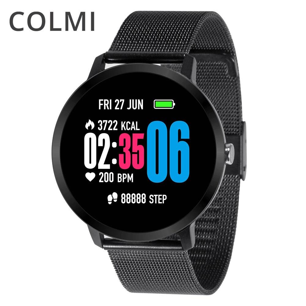 COLMI IP67 Atividade rastreador à prova d' água rastreador De Fitness monitor de freqüência cardíaca Pulseira das mulheres Dos Homens de vidro Temperado Banda Inteligente