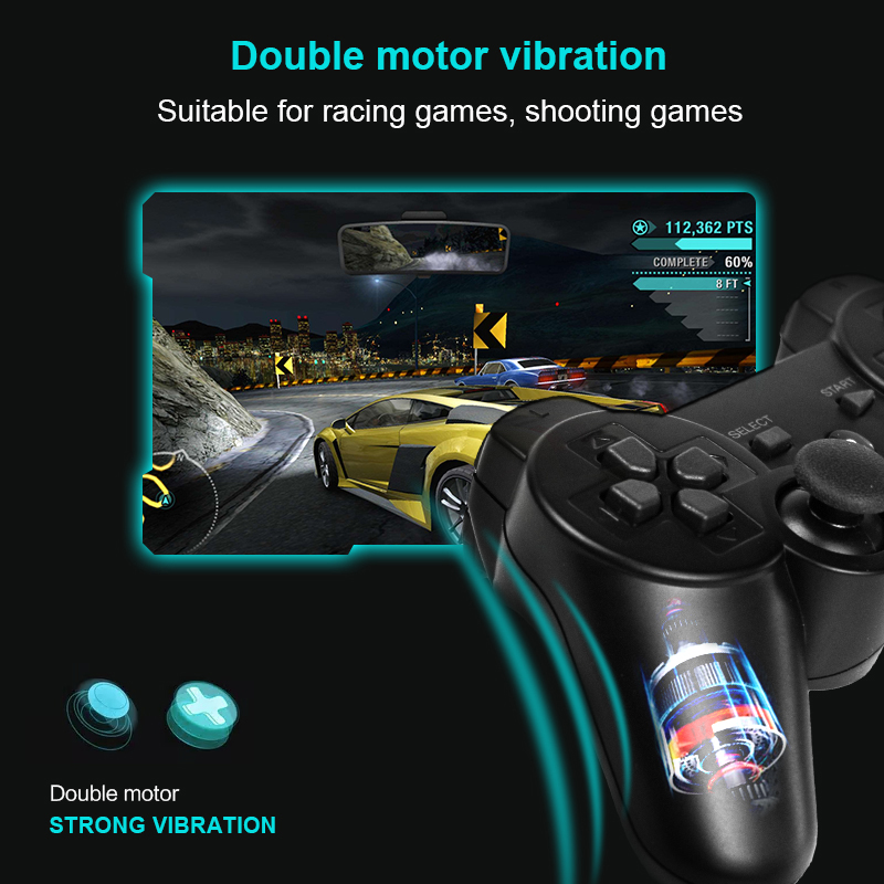 Image 5 - DATA FROG Wireless Game Gamepads for PS3/PS2 Controller Joystick for Playstation2/3 Gamepad for Windows Android Smart TV/TV Box-in Gamepads from Consumer Electronics