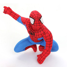 New Spiderman Spider Man 7 9 20cm Soft Plush Doll Toy Red Blue Free Shipping
