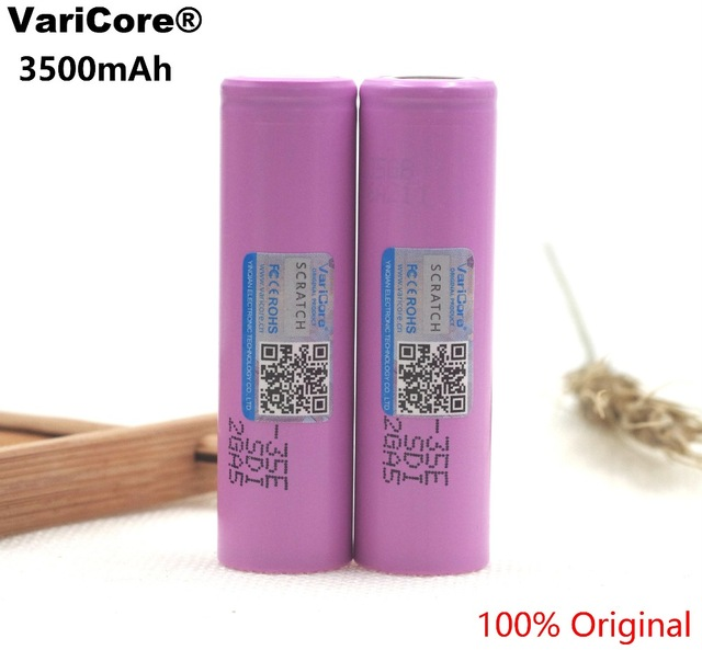 4CPS VariCore 35E Original Lithium Battery 18650 3500 mAh 3.7V 25A High Power INR18650 35E for Samsung Rechargeable Battery