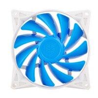 Azul 9 cm 12 V DC 5 V DC 11 Ventilador de La Hoja de 90mm de Control PWM Mute CPU Ventilador para Caja 92 (L) * 92 (W) * 25 (H) Tensión nominal 12 V DC Ventiladores De Refrigeración