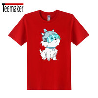 2017 Summer New Anime Cute Rick Morty Dog Print Men T Shirts Peace Among Worlds Folk