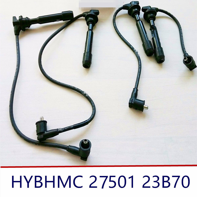 high voltage wire spark plug cable 2750123B70 for Elantra Tucson Sonata 27501 23B70 4PCS