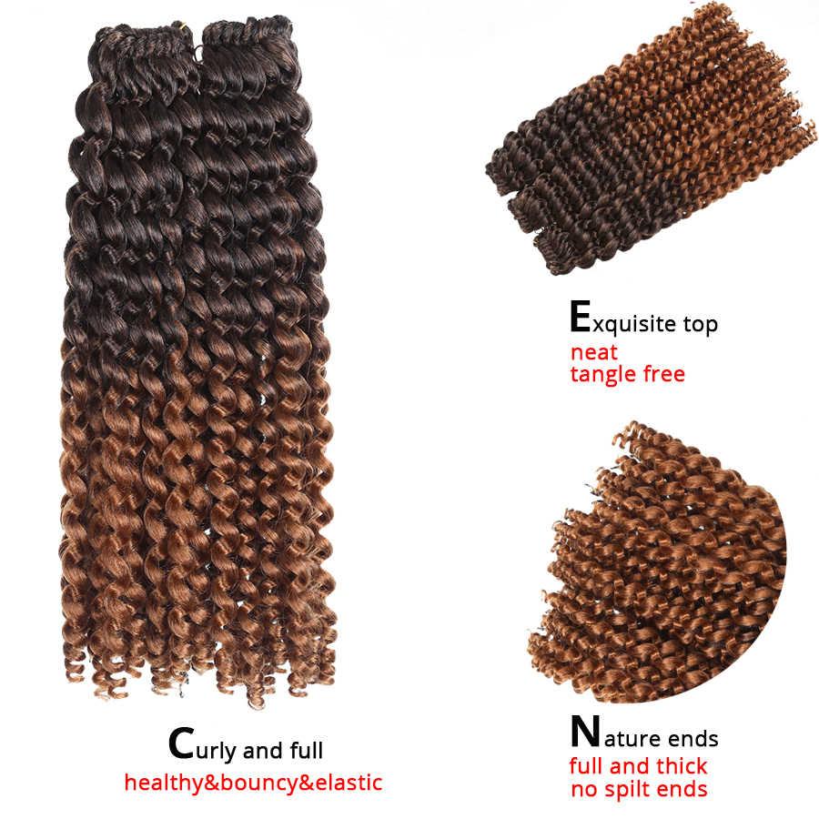 14 インチジャマイカバウンスかぎ針髪カール音符人工毛エクステンション耐熱オンブル編組毛黄金美容