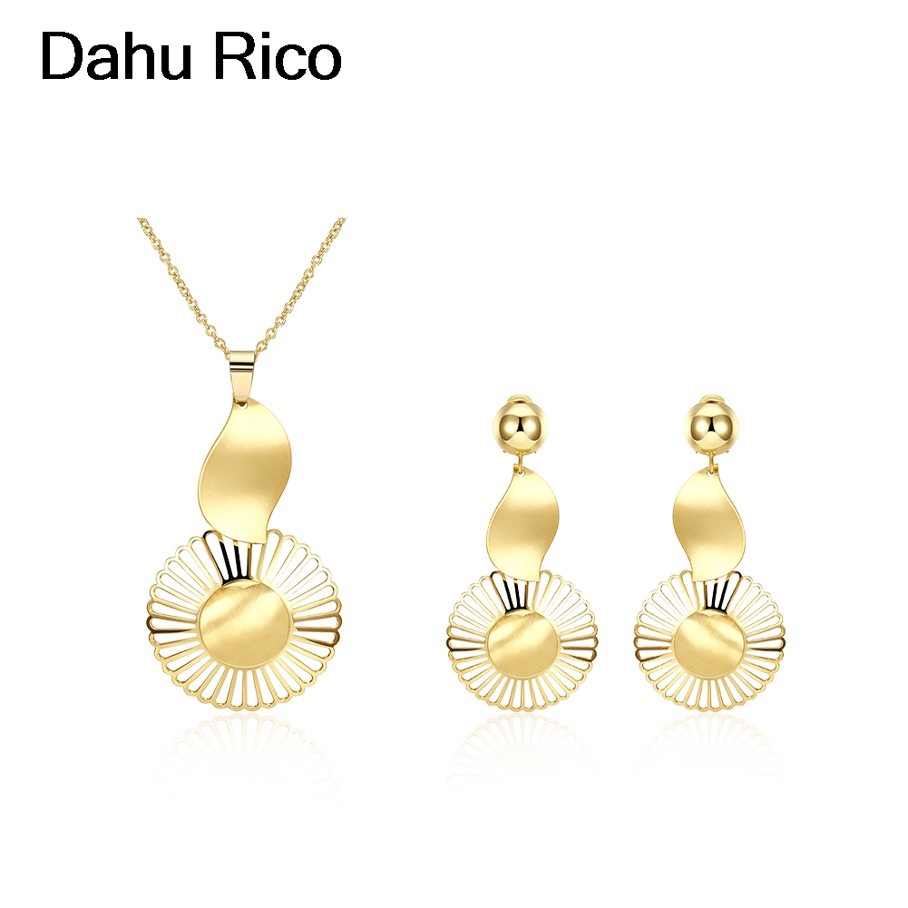 set de taki seti voor vrouwen luxury juwelen jamaica mais vendidos gros Dahu Rico jewelry sets gold filled