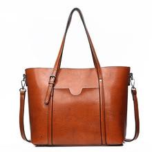 2019 New Fall handbags Retro Oil Skin Women Messenger Bags Korean Version The Wild Handbag Large Capacity сумочка