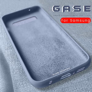 liquid rubber silicone shell cover for samsung galaxy s10e s10 s9 s8 plus case on samsyng sansung glaxy note 10 plus 9 8 coque(China)