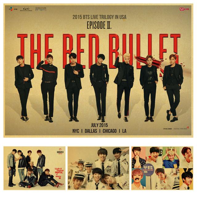 BTS Posters Room Decoration Pictures (Jungkook Jimin V Suga Jin Rap Monster Jhope J-Hope)