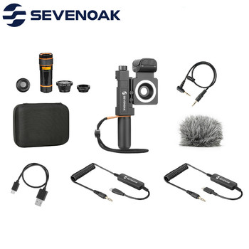Sevenoak SmartCine+ Video Kit with Stereo Mic & 3.5mm headphone for IOS Android Smartphone Broadcast Live streaming Videoshoot