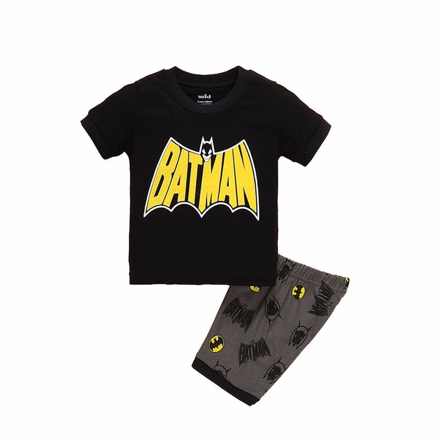 2017 New Summer Boys Clothes Set T-shirt Short 2pcs Children Clothing Set Casual Kids Suits for Toddler Batman Superman boys soccer uniform 2017 summer wear short sleeved shirt quick drying fabric football suits children s clothing baby