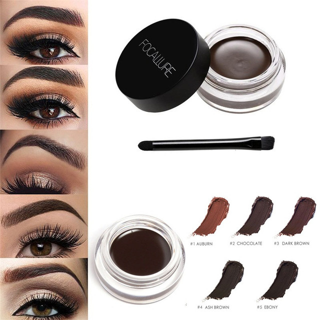 4f562875aba Aikimuse 5 Colors Waterproof Brand Eyebrow Cream Mascara Gel Make Up Cream  Eye Brow Long lasting Makeup Enhancer Brush Set 2 -in Eyebrow Enhancers  from ...