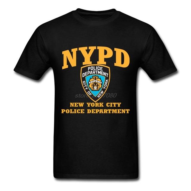 Impresso t-shirt nypd clothing new york city polic' departamento de impressão para Mens Engraçado Camisetas Slim Fit Dos Homens de Manga Curta Tee