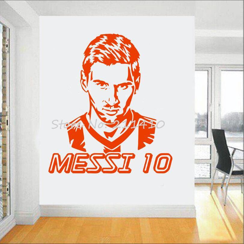 Futbol takımı logosu Duvar Sticker Sanat Messi vinil duvar sticker - Ev Dekoru - Fotoğraf 3