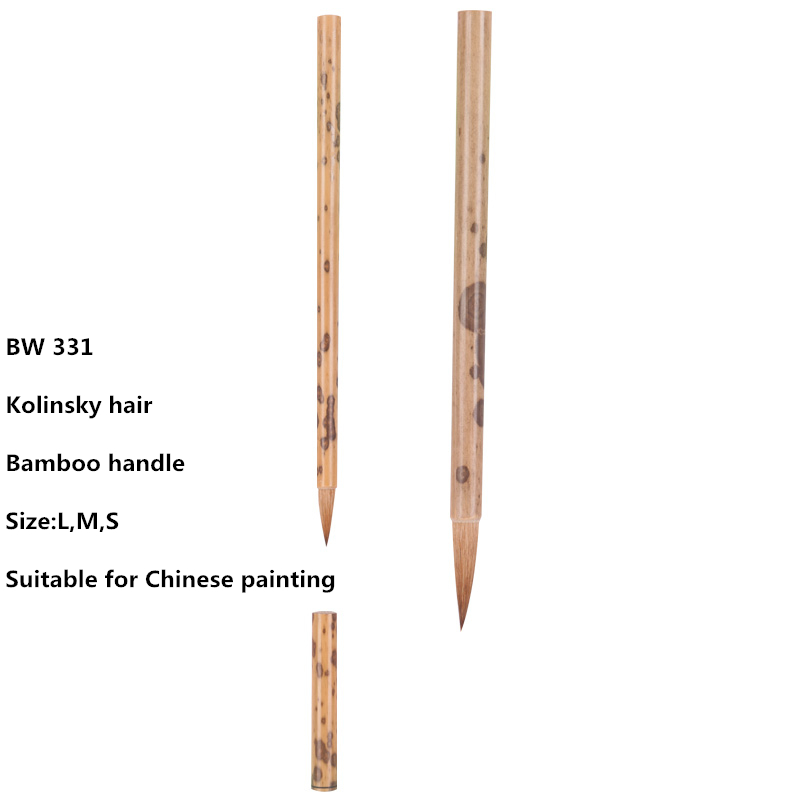High quality 1PC BW-311 kolinsky hair bamboo handle Chinese painting supplies art calligraphy paint brush цена