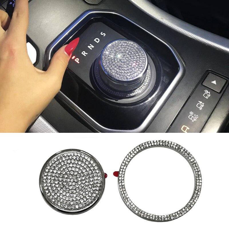 Chrome Gear Shift Knob Cover Decoration Trim Sticker For Range Rover Evoque For Land Rover Discovery Sport For Jaguar XF XE XJ