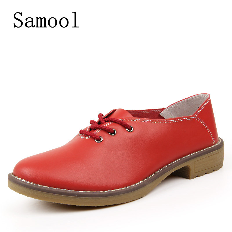 Spring Autumn Genuine leather Women Oxford shoes flats girls lace-up fashion casual shoes comfortable breathable flats 2017 spring autumn new genuine leather lace up oxford shoes female thick bottom flats shoes europe style martin shoe obuv