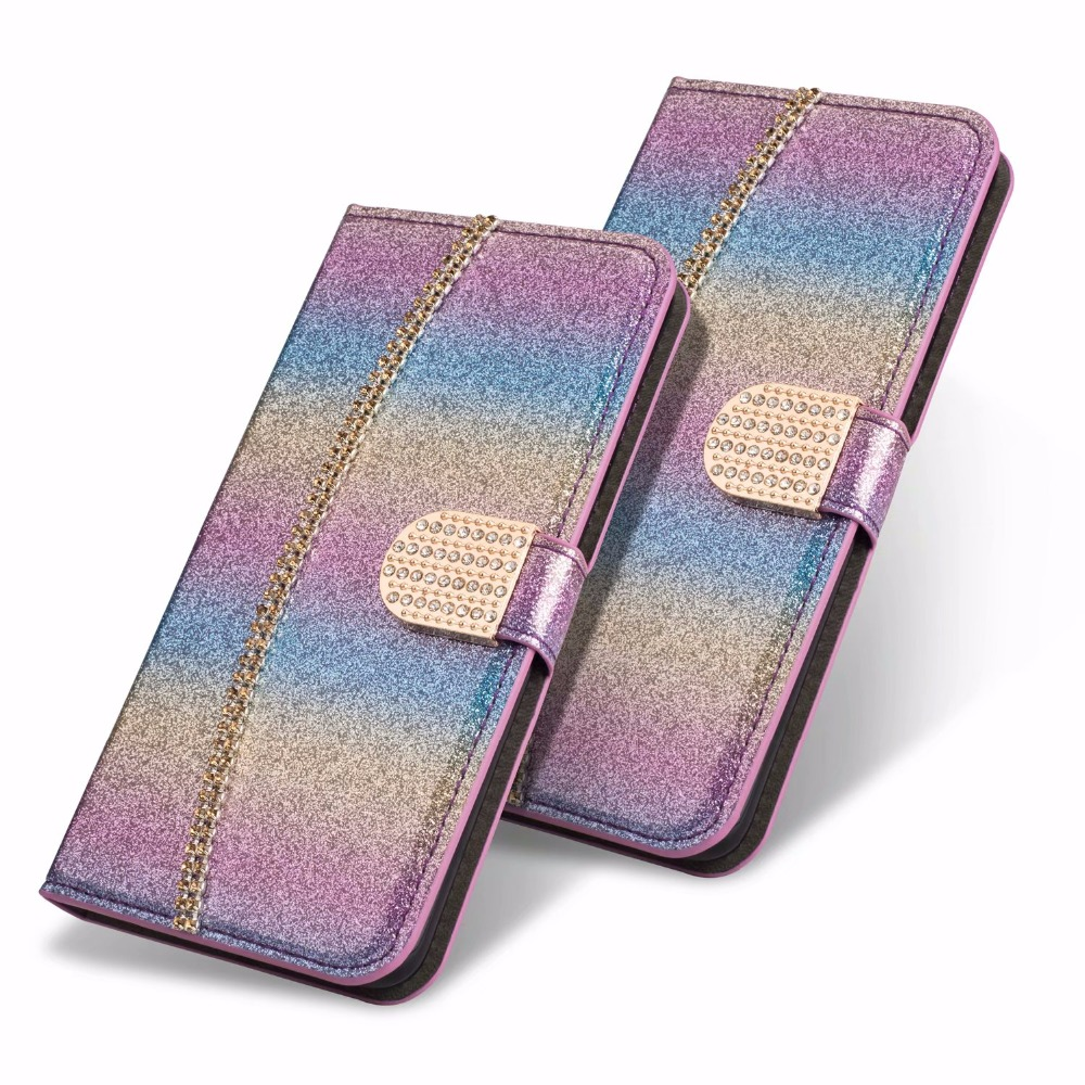 XINGDUO Jewelled flip Mobile phone shell for <font><b>Samsung</b></font> S9 S8 <font><b>S7</b></font> S10 Plus Note 8 9 fashion <font><b>gold</b></font> Bracelet Wallet <font><b>Case</b></font> Silica cover image