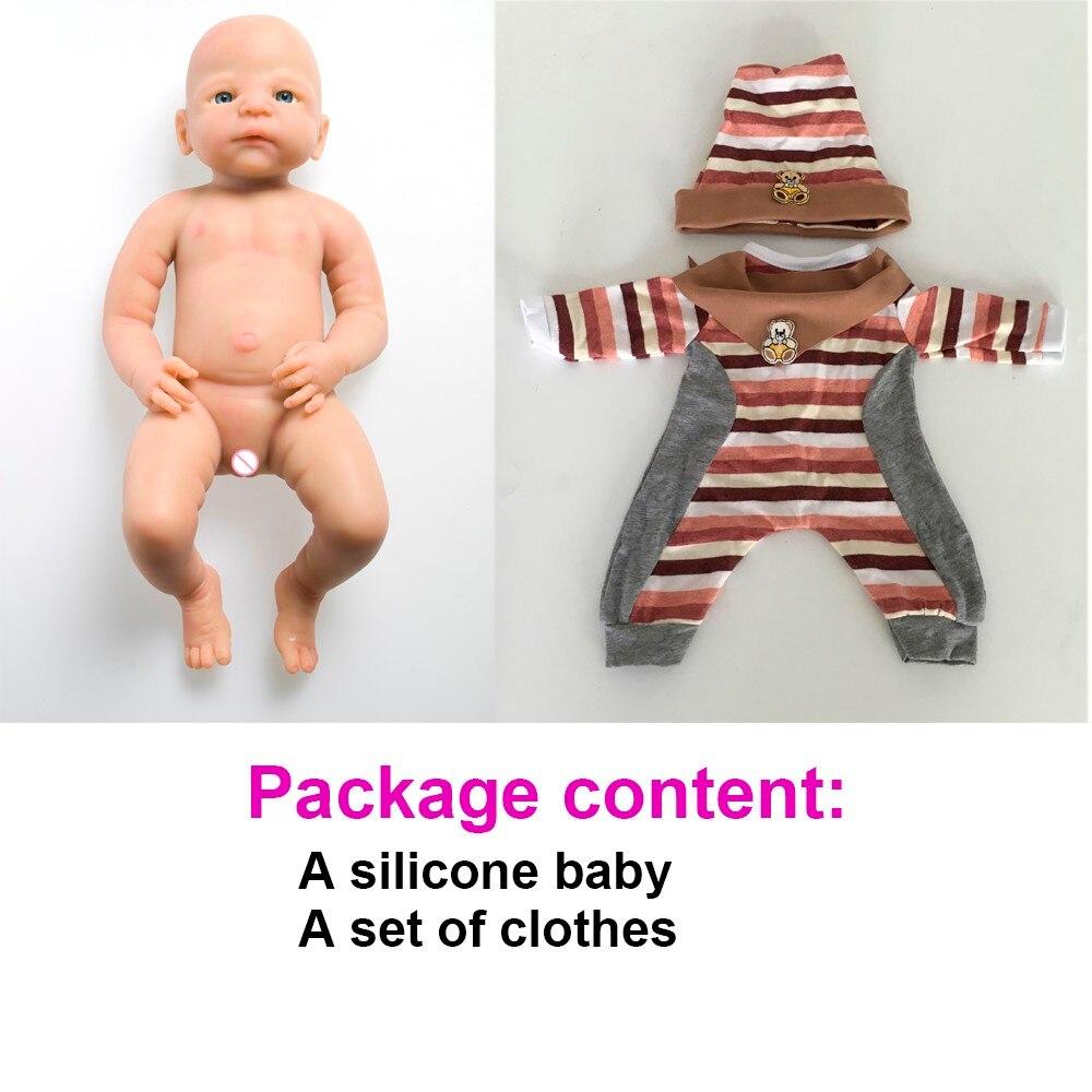 Ivita 21inch/4.9kg Girl High Quality Silicone Reborn Dolls Baby Born Full Body Alive Bath Doll XMAS Gift 9
